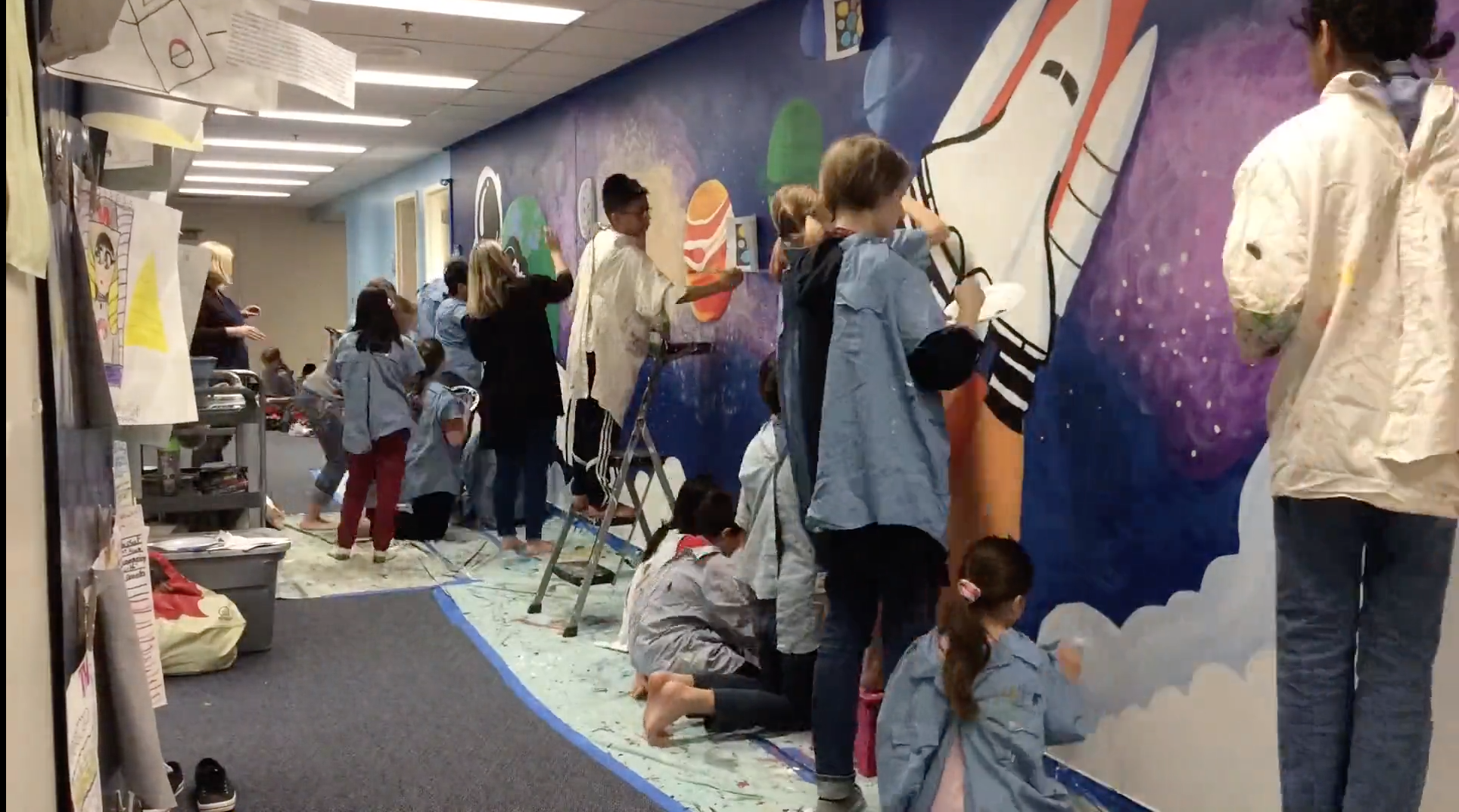 Watch the 5th Grade Space Mural!