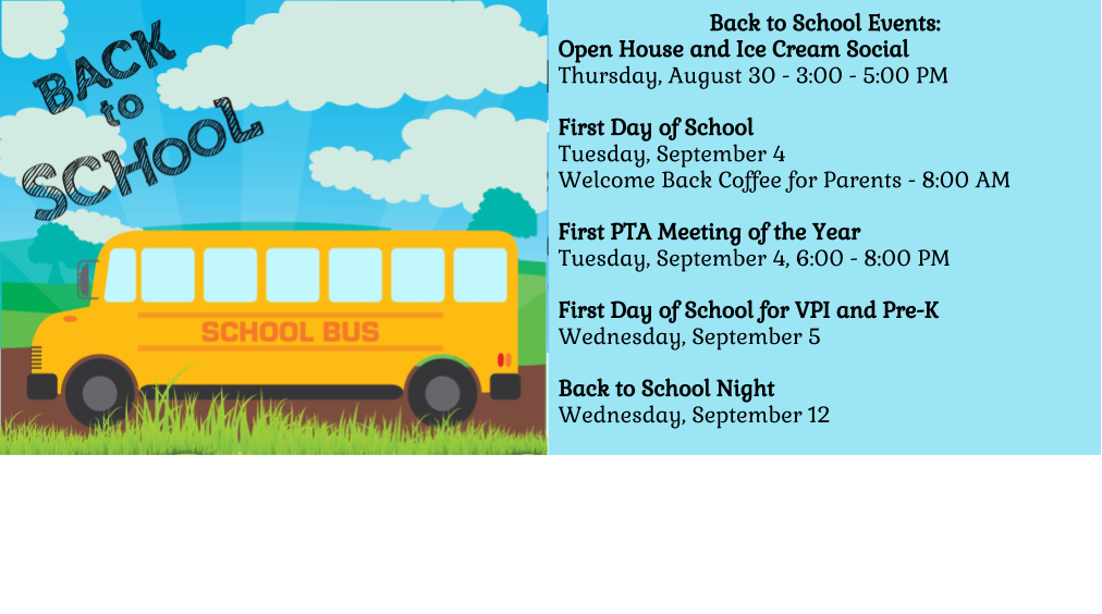 2018 Back to School Information