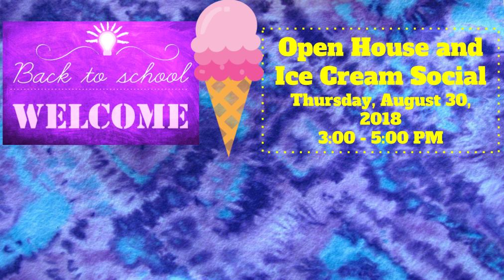 Welcome Back! Open House and Ice Cream Social