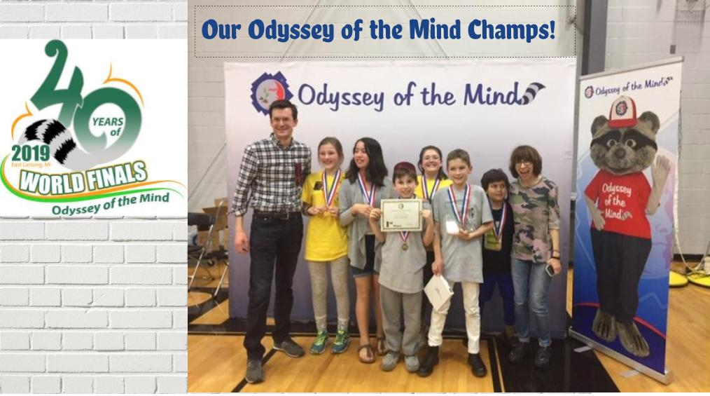 5th Grade Odyssey of the Mind Winners!