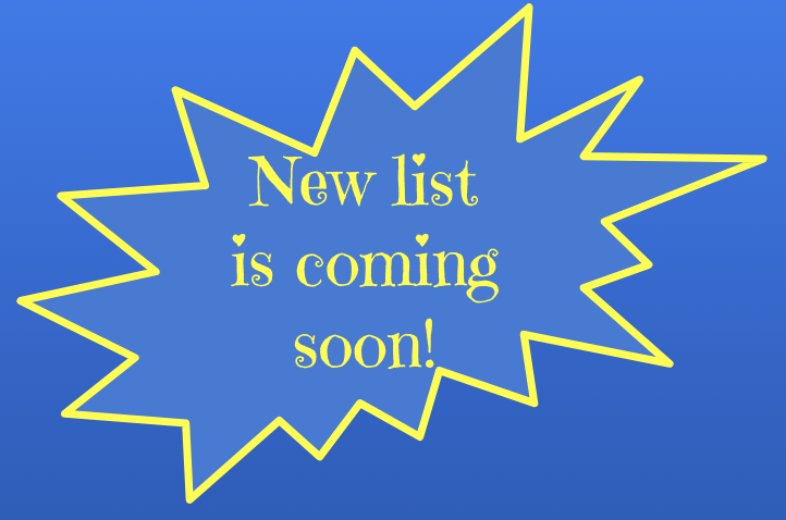 New List Coming Soon