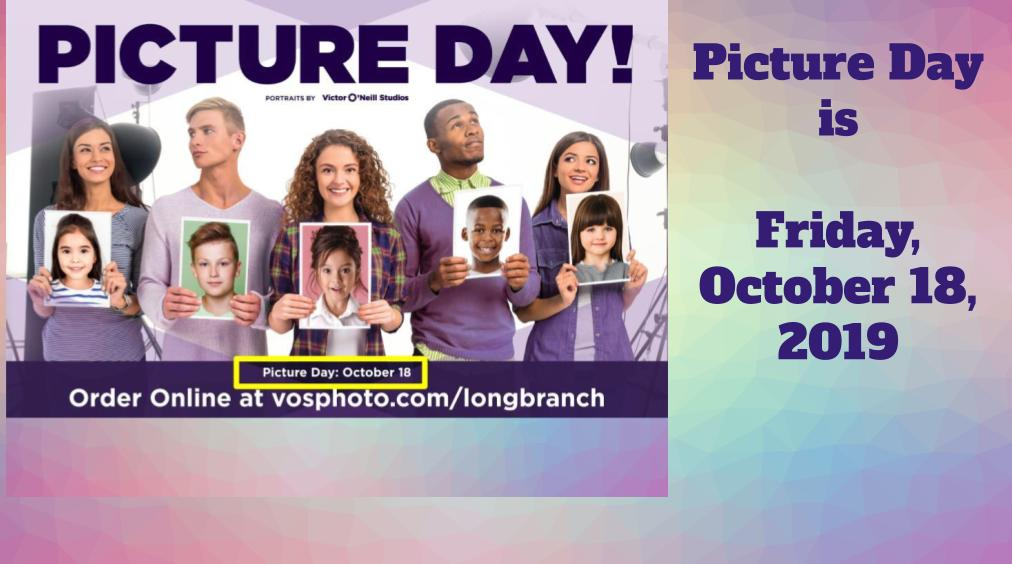 Picture Day – Friday October 18