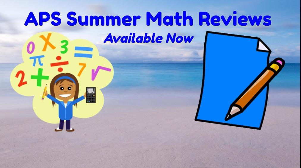 Summer 2020 Math Reviews