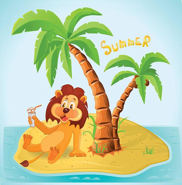 جزیرے پر شیر