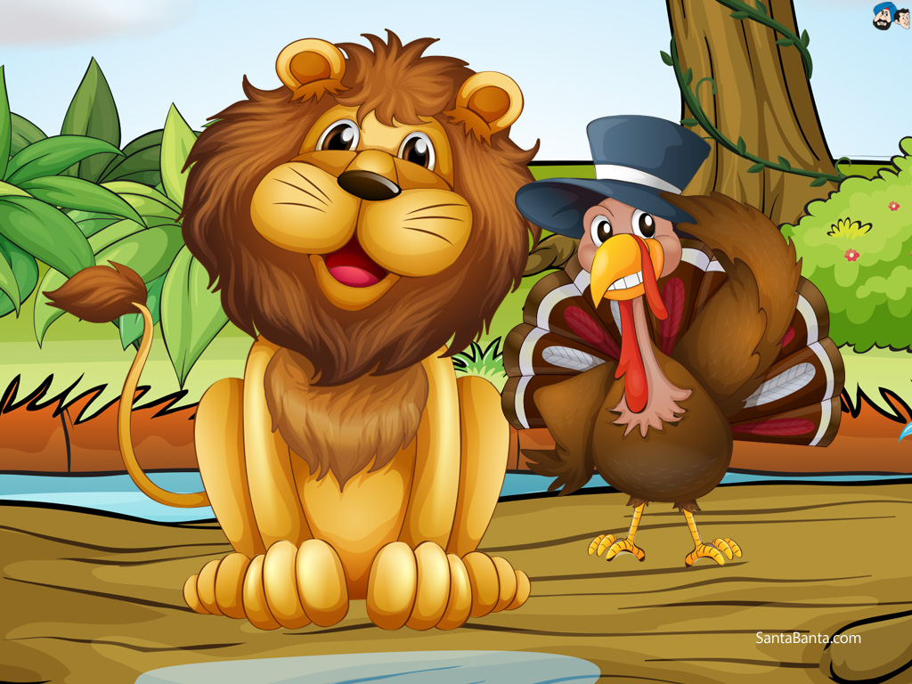 Lion and turkey