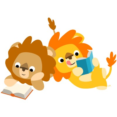 Lions reading a book