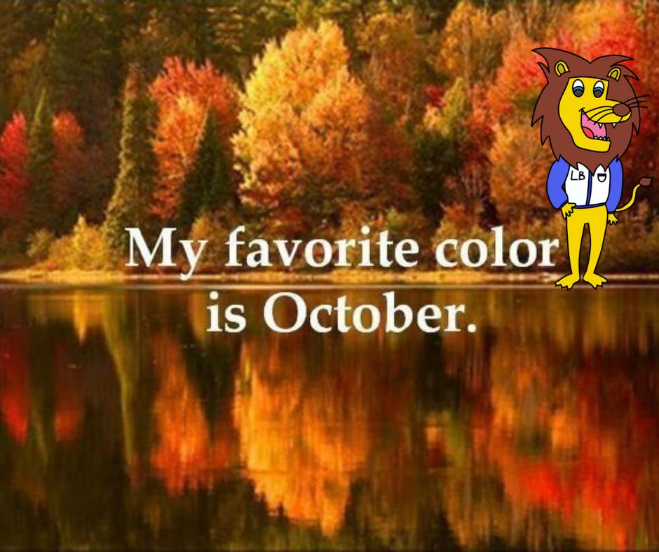 """写着""""我最喜欢的颜色是十月""""的图片"""