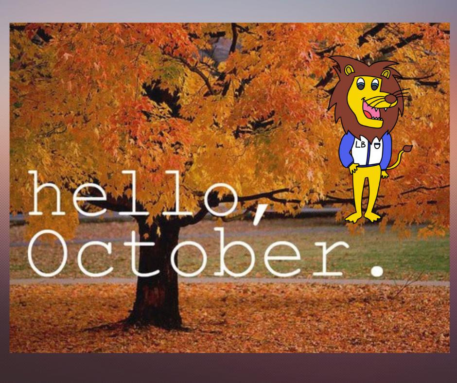 """写着""""你好十月""""的图片"""