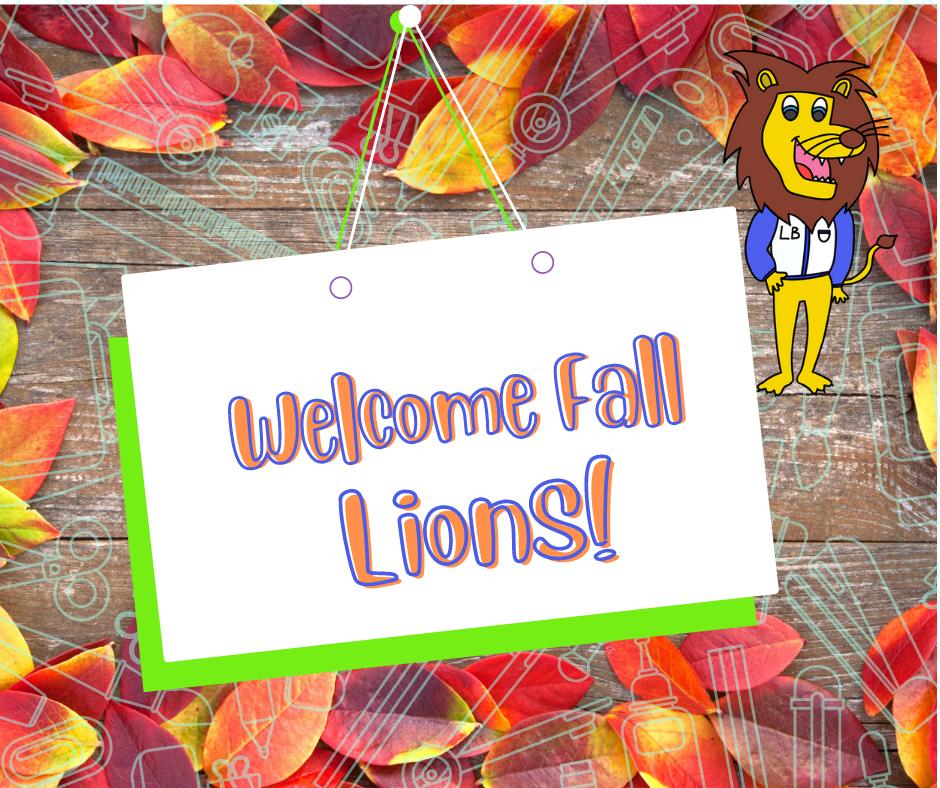 横幅说欢迎秋天的狮子!