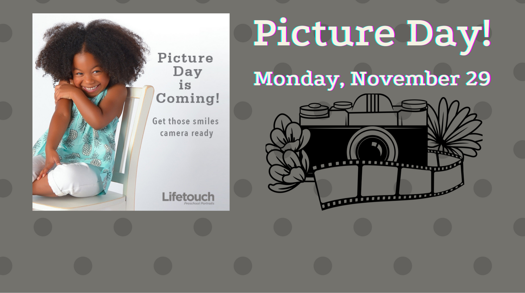 Picture that says Picture Day is Monday, November 29