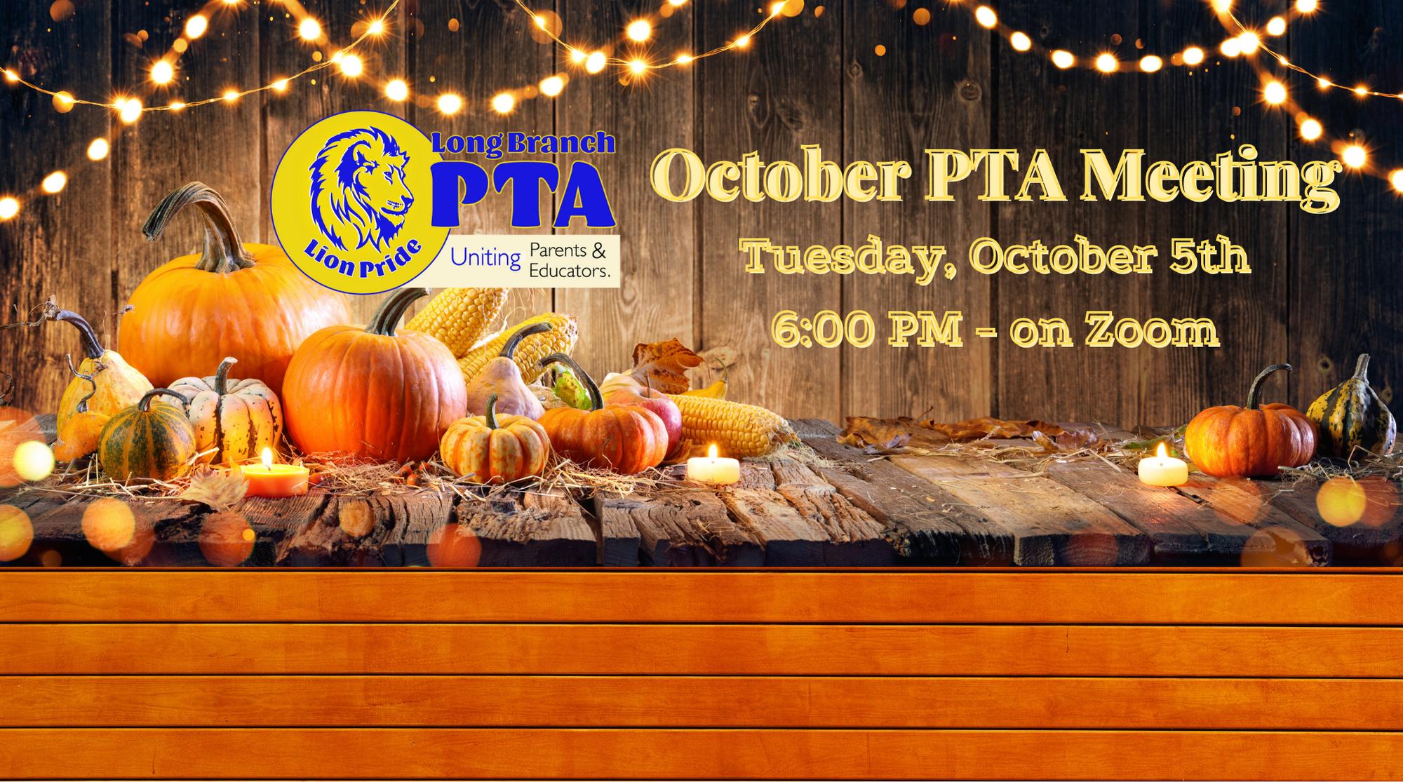 October 5th PTA Meeting